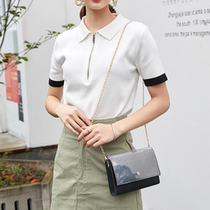 2020 new Korean version of shoulder bag women's casual fashion chain Messenger phone sequin coin purse
