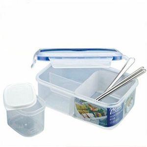 Hochwertige Einzel Schnalle um Lunch Box Can Mikrowellen LunchBox Geschirr Einzel Kunststoff Bento Lunch Boxes
