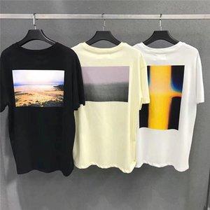 Beleza FEAR maré DE DEUS ESSENTIALS Califórnia limitada impressão foto FOG T-shirt homens e mulheres em torno do pescoço manga curta