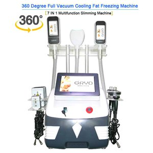 Cryolipolysis Fat Freezing Machine 5 in 1 Cryotherapy Waist Slimming 360° Fat Freeze 40K Cavitation Rf Machine Body Fat Reduction