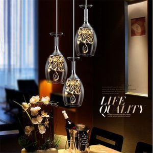 Moderne minimalistische Restaurant Weinglas führte Kronleuchter Hotel-Bar-Club Beleuchtung zu Hause kreativ geführt Kristall Nordic Esszimmer Lampe STJX16