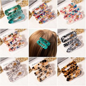 Vcorm Fashion 1Set Women Girls Acrylic Geometric Hair Clips Anix Sweet Headwear Heads Styling Tools Barretes Instruments
