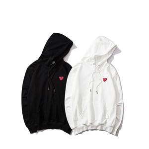 Tasarımcı Hoodie Erkek Kadın Lüks Swearshirt Yeni Moda Stil Marka Hoody Kadınlar Kırmızı Kalp Nakış B100430X ile Tops