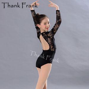 Yeni Balesi Leotards İçin Kızlar Jimnastik Leotard Çocuk Yetişkin Uzun Kollu Dantel Mayo Dans Bale Kadınlar Dance Wear TF1029 için