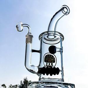 Arı Kovanı Perc Karikatür Bong 5mm Kalın Cam Suyu Bongs Percolator Topu Cam Oil Rig 14mm Kuvars Banger Erkek ile Recycler Dab Donanımları