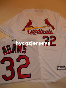 baseball pas cher Sc # 32 MATT ADAMS COUSUES chemise maillot blanc des nouveaux hommes maillots cousu Big and Tall TAILLE XS-6XL A vendre