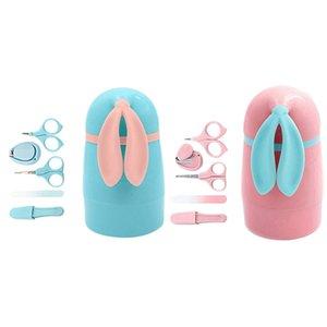 FBIL-5шт Новорожденного Healthcare Kits младенца Nail Set Уход Infant кусачки для ногтей Набор Уход с кроликом Storage Box для Baby Care To
