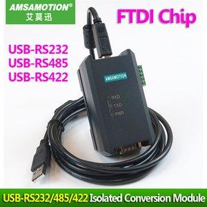 Endüstriyel tip USB RS485 USB-RS422 USB-RS232 FTDI Chip İzole Dönüşüm Modülü USB TO RS232 / 422/485 Manyetik İzolasyon