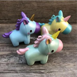 Squishy Unicorn Toys Lovely Unicorn Squishy Charms Cute Unicorn Keychains Squishy Flying Horse Charms Cartoon Depression Toys Party Props