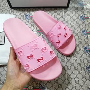 2020 Luxus Männer Frauen G Sandalen Frau Leder kausalen Schuhe Strand Slide Summer Fashion Flache Sandalen Slipper Flip Flop Größe 35-46 mit Box