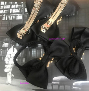 10X6cm Hairclips smart CC stone bowknow hair pin fashion hair Accessories cloth Hair clips hiar tie party gift with paper card VIP