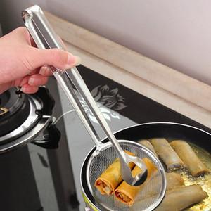 Neuer Multifunktions-Filter Löffel mit Clip Food Kitchen Öl-Braten BBQ Filter Edelstahl-Clamp-Sieb Küchenhelfern