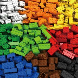 1000 طوب قطع كتل بناء مدينة DIY الإبداعية السائبة نموذج أرقام ألعاب تعليمية للأطفال متوافق مع جميع العلامات التجارية
