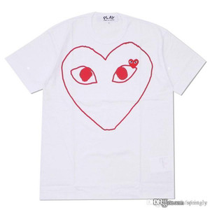 COM Meilleure qualité CDG New Hot Red Eyes HOLIDAY PLAY 1 T-shirt noir rayé rouge Polka décision rapide Noir F / S
