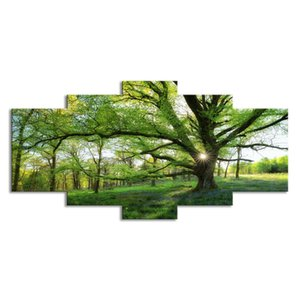 Forest Canvas Wall Art Painting Landscape Pictures for Bedroom Living Room Home Decro Unframed