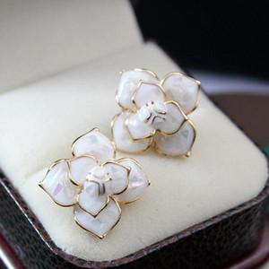 EH23 Camellia Marke Designers Blumen Kpop 20167 Schmuck Pendientes Brincos Boucles D'oreilles Bijoux Ohrringe für Frauen