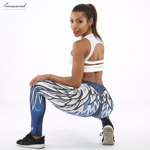 Harajuku 3D Wing Leggings For Women Push Up Sporting Fitness Legging Athleisure Bodybuilding Sexy Womens Pants
