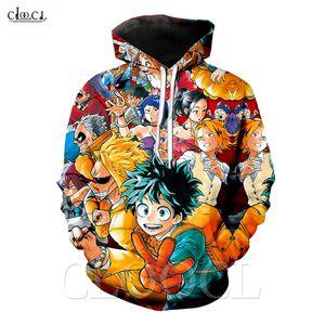 2020 Yeni Stil Anime My Hero Academia Kapüşonlular Erkekler Kadınlar 3D Midoriya Izuku Kapşonlu Sweatshirt Coat Moda Streetwear Kazaklar yazdır