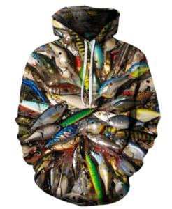 La moda más reciente Venta caliente Pesca Sudaderas con capucha de impresión 3D Fishman Ropa de moda Mujeres / Hombres Divertido 3D Hoodiest Tracksutis Casual Abrigos Tops K502