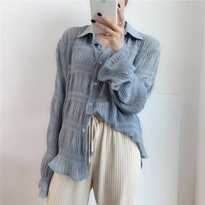 Uzaylı Kitty Gündelik Kıvrımlar Alternatif Zarif Kadın Bluzlar Düzenli 2020 Yeni Tasarım Gevşek İnce Tam Kollu Ücretsiz Gömlek Kadın