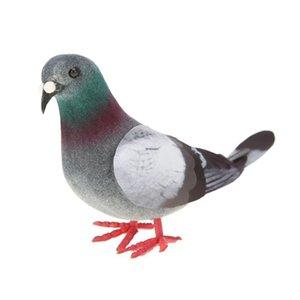 Crafts Figurines & Miniatures Simulation Foam Pigeon Model Fake Artificial Imitation Bird Animal Home Garden Ornament Miniature Decor...