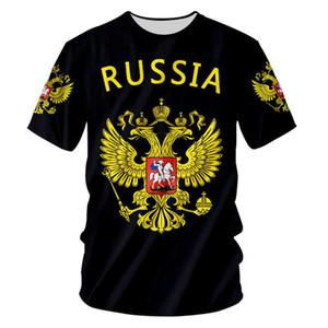 Benutzerdefinierte S-7XL russische T-Shirt Männer Frauen Lustige 3d Russland-Flagge Eagle-Sommer-Druck-Hemd Lässiges T-Shirt Unisex Hip Hop Punk Rock T