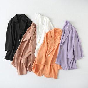 Roxo Blazer 2020 Verão Novo Estilo Moda One Button do M7858-coreano Mulheres Spring Summer Coats Feminino