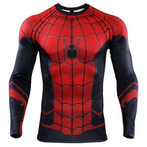 Spider Man Far From Home 3D Printed T рубашки Мужчины реглан рукава компрессионные Рубашки 2019 с длинным рукавом Мужской костюм косплей Ypf667