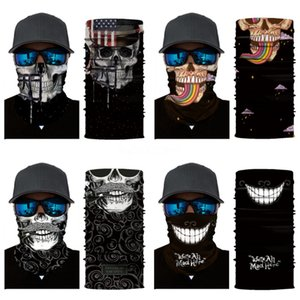 Pm2.5 Filter Magic Mask Scarves Kdis Adult Outdoor Face Skull Scarf Turban Neck Sun Protective Cycling Bandanas Mask Without Fi #782#586