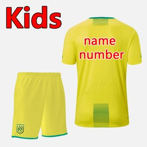 Calidad tailandesa versión 19 20 FC Nantes fútbol de los cabritos cabritos de los sistemas Kit fija 19 20 FC Nantes camisa chicos de fútbol uniformes FC Nantes ki fútbol juvenil