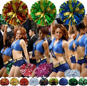 sizin seçim için 120g Cheering ponpon Metalik Pom Amigoluk ürünler çok renk Cheerleading Noel Partisi pom ponlar