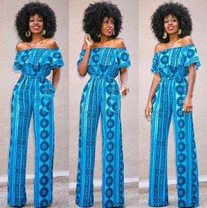 New Mode Vêtements pour femmes Vintage Casual Off-épaule Jumpsuit Romper Pantalons Clubwear Vêtements Femme sexy