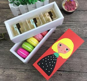 Chriatmas Hollow Macaron Box кекс Контейнер Валентина Шоколад Упаковка для выпечки Упаковка Macaron Упаковка бумаги торт коробки 17,5 * 5 * 6cm