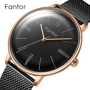 Fantor Minimalist Luxury Quartz Watch Man New Brand Classic Mesh Steel Wristwatch Mens Casual Waterproof Wrist Watches for Men