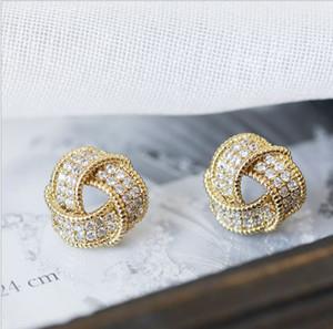 Brinco com Triangle Diamond Circle, Shinning completa hipoalergênico diamante Brinco Curto, frete grátis e de alta qualidade