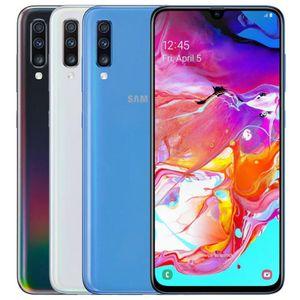 Восстановленный оригинальный Samsung Galaxy A70 A705FN / DS Dual SIM 6,7 дюйма OCTA CORE 6 ГБ ОЗУ 128 ГБ ROM 32MP разблокирован смартфон DHL 5 шт.