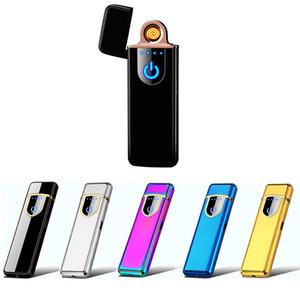 Mode USB aufladbare Feuerzeug-windundurchlässige elektronisches Feuerzeug Flameless Touch Screen Schalter bewegliches kreatives Feuerzeug-bestes Geschenk
