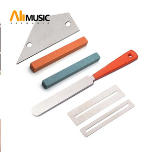Guitar Fret Crowning File Leveling Tool Grinding Protectors Repair Part Set Guitar Repair Tool Accessories