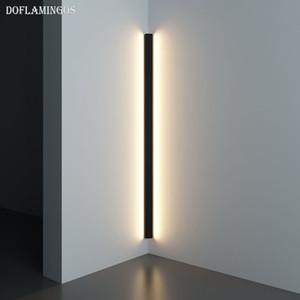 LED moderne d'angle mur Lampe Minimaliste Intérieur Luminaire Appliques Escalier 100cm 150cm Chambre chevet Accueil Hall d'entrée Lumière