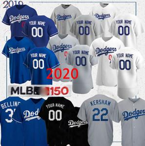Dodgers jersey Mookie Betts 50 35 Cody Bellinger 22 Clayton Kershaw 14 Enrique Hernandez 31 Joc Pederson camisola do basebol personalizado