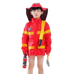 cYuNg Halloween children firefighter kindergarten role professional experience game performance service play service costume Play clothing c
