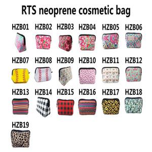 19 Designs Neopren Wash Gargle bewegliche wasserdichte kosmetische Beutel bilden Aufbewahrungstasche Handtasche ST875