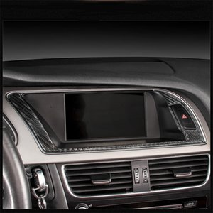 Carbon Fiber Center GPS Navigator Outer Frame Cover Trim for Audi A4 B8 2009 2010 2011 2012 2013 2014-2016   A5 08-17