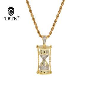 TBTK песочные часы модель прохладный хип-хоп кулон золотое ожерелье рэп игра бижутерия кулон ожерелье для человека микро-инкрустированный цирконий