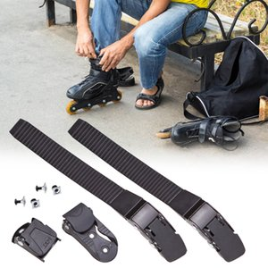 Remplacement résistant à l'usure patins Bracelet Set fermoir pratique rapide Fasten avec boucle Universal Easy Install Chaussures de patinage de sécurité