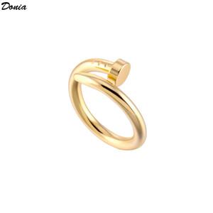 hombres y mujeres creativos anillo Donia caliente joyas de plata anillo de traje de clavo de acero de titanio europeos y americanos anillo hecho a mano