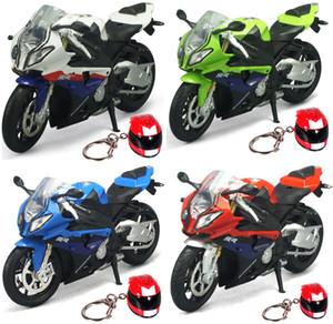 La alta simulación 01:12 de la motocicleta de juguete de aleación modelo de coche de motor de la moto S1000 Rr para los niños juegan los regalos de envío J190525