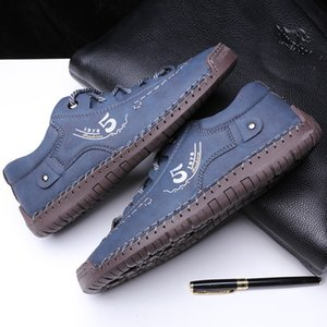 Hot ! Summer Soft Men's Casual Shoes Breathable Leather Handmade Loafers Brand Men Italy Rome Shoes Flat Moccasins Men Sneakers qwd