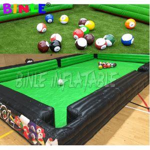billares humanos saque de jugar al billar de fútbol inflable competición al aire libre juego de fútbol inflable mesa de billar snooker por la empresa
