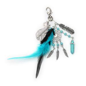 Moderno, Nuovo, alla moda di bellezza Dream Catcher piuma naturale nappe accessori del pendente Portachiavi Portachiavi
